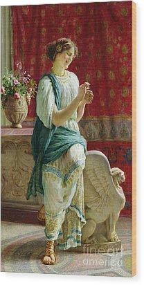 Roman Girl Wood Print by Guglielmo Zocchi