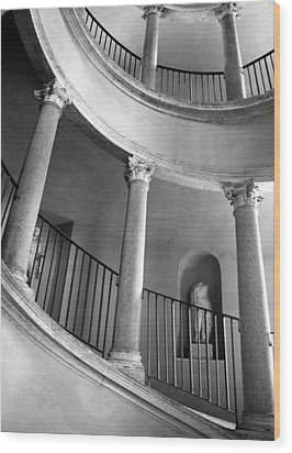 Roman Staircase Wood Print by Donna Corless