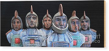 Roman Warriors - Bust Sculpture - Roemer - Romeinen - Antichi Romani - Romains - Romarere Wood Print
