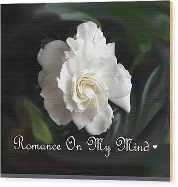Romance Rose Wood Print by Kim