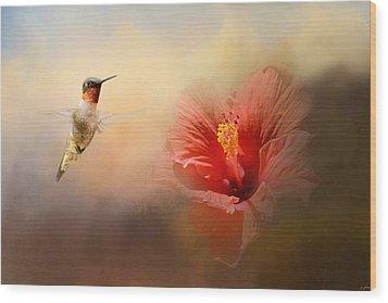 Romancing The Hibiscus Wood Print