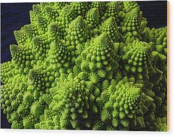 Romanesco Broccoli Wood Print by Garry Gay