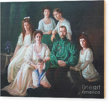 Romanov Family Portrait Wood Print by George Alexander