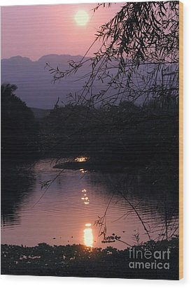 Romantic Afternoon By The Lake Wood Print by Yali Shi