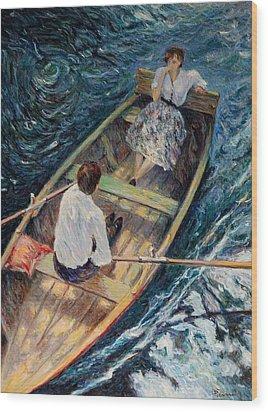 Dordogne , Beynac-et-cazenac , France ,romantic Boat Trip Wood Print