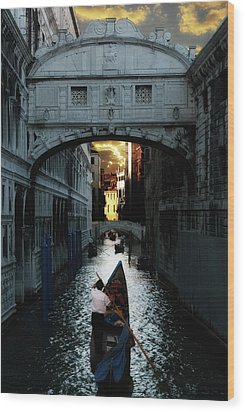 Romantic Venice Wood Print by Harry Spitz