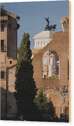 Rome Layers 1 Wood Print by Art Ferrier
