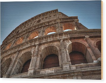 Wood Print featuring the photograph Rome - The Colosseum 003 by Lance Vaughn