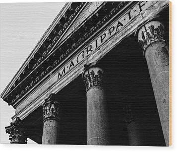 Rome - The Pantheon Wood Print