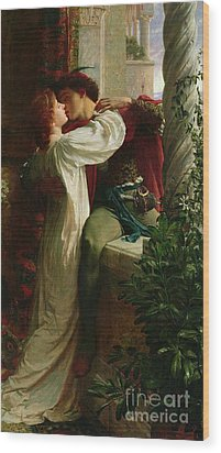 Romeo And Juliet Wood Print by Sir Frank Dicksee