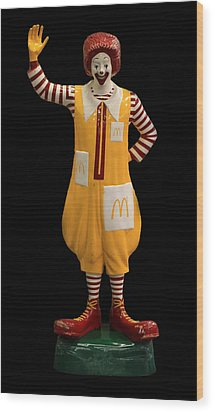 Ronald Mcdonald Wood Print by Andrew Fare