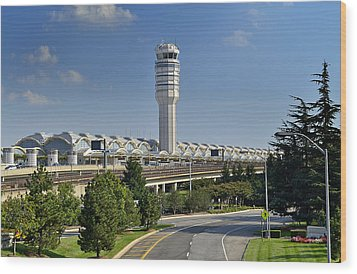 Ronald Reagan National Airport Wood Print by Brendan Reals