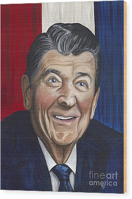 Ronald Reagan Wood Print by Patty Vicknair
