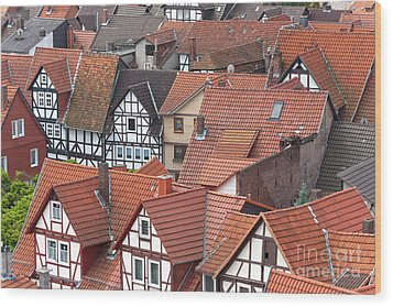 Roofs Of Bad Sooden-allendorf Wood Print by Heiko Koehrer-Wagner