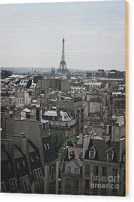 Roofs Of Paris. France Wood Print by Bernard Jaubert