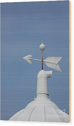 Rooftop Of Lighthouse Wood Print by Gabriela Insuratelu