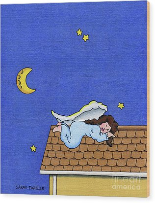 Rooftop Sleeper Wood Print by Sarah Batalka
