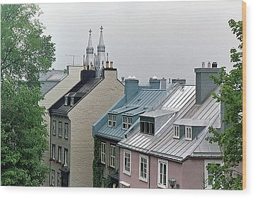 Wood Print featuring the photograph Rooftops by John Schneider