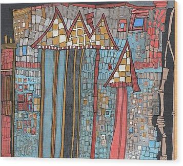 Dilapidated World Wood Print by Sandra Church