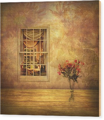 Room With A View Wood Print by Jessica Jenney