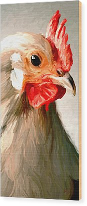 Wood Print featuring the digital art Rooster 2 by James Shepherd