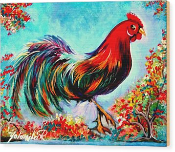 Rooster/gallito Wood Print