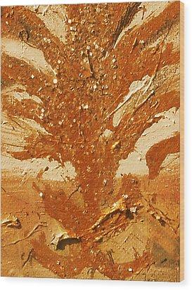 Roots Of Bronze Wood Print by Anne-Elizabeth Whiteway