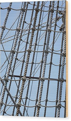 Wood Print featuring the photograph Rope Ladder by Dale Kincaid