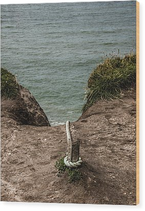 Wood Print featuring the photograph Rope Ladder To The Sea by Odd Jeppesen