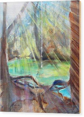 Rope Swing Wood Print by Carlin Blahnik