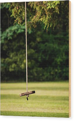Wood Print featuring the photograph Rope Swing  by Shelby Young