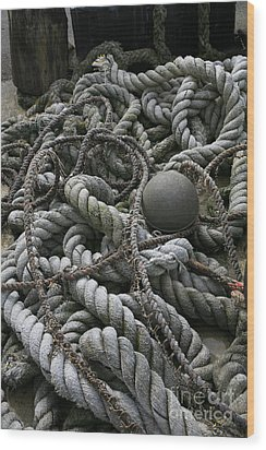 Ropes And Lines Wood Print by Timothy Johnson