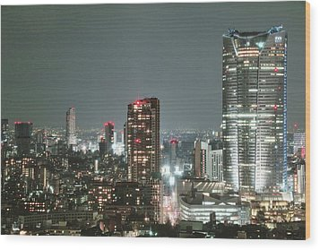 Roppongi From Tokyo Tower Wood Print by Spiraldelight