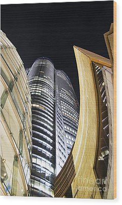 Roppongi Hills Mori Tower Wood Print by Bill Brennan - Printscapes