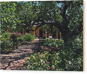 Wood Print featuring the photograph Roque House Gardens by Ken Frischkorn