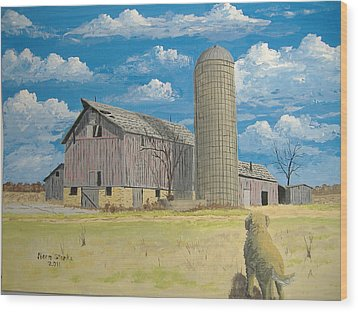 Wood Print featuring the painting Rorabeck Barn by Norm Starks