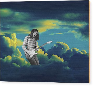 Rory Morning Sun Wood Print by Ben Upham