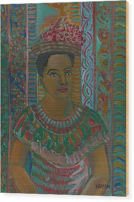 Wood Print featuring the painting Rosa by John Keaton