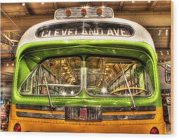 Rosa Parks Bus Dearborn Mi Wood Print