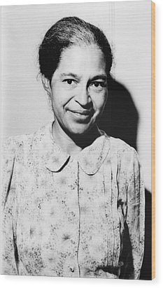Rosa Parks Was A Member Of The Naacp Wood Print by Everett