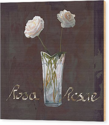 Rosa Rosae Wood Print by Guido Borelli
