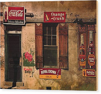 Rosas Cafe Wood Print by J Griff Griffin