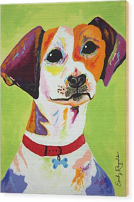 Roscoe The Jack Russell Terrier Wood Print by Emily Reynolds Thompson