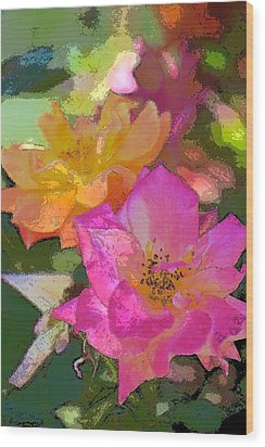 Rose 114 Wood Print by Pamela Cooper