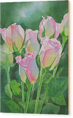 Rose Array Wood Print
