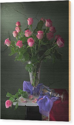Rose Blossoms Wood Print