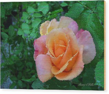 Wood Print featuring the photograph Rose by Bonnie Willis
