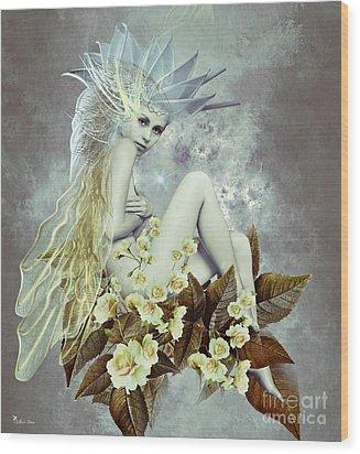Rose Fairy Wood Print by Ali Oppy