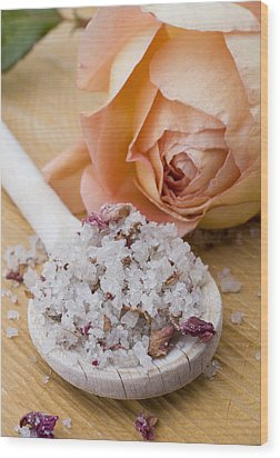 Rose-flavored Sea Salt Wood Print by Frank Tschakert