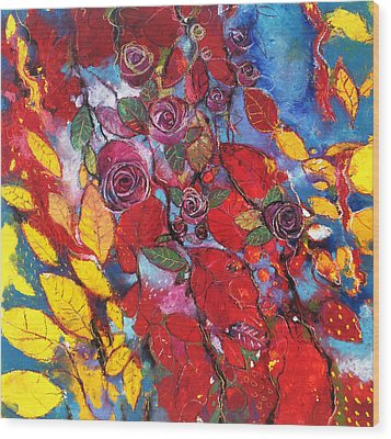 Rose Garden Wood Print by Alessandro Andreuccetti